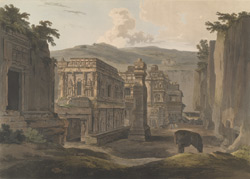 S.W. view of Kailasa